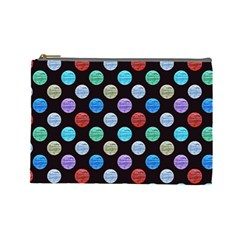 Death Star Polka Dots in Multicolour Cosmetic Bag (Large)
