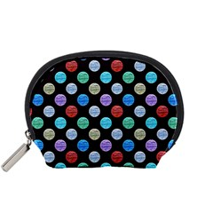 Death Star Polka Dots in Multicolour Accessory Pouches (Small)