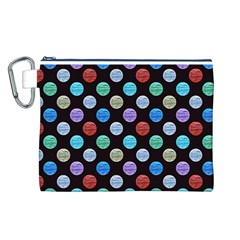Death Star Polka Dots in Multicolour Canvas Cosmetic Bag (L)