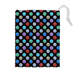 Death Star Polka Dots in Multicolour Drawstring Pouches (Extra Large)
