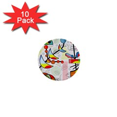 Happy day 1  Mini Buttons (10 pack)