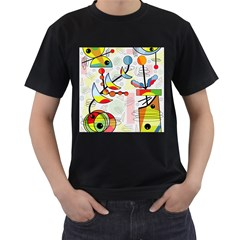 Happy day Men s T-Shirt (Black) (Two Sided)