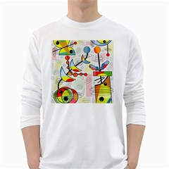 Happy day White Long Sleeve T-Shirts
