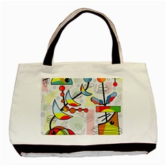 Happy day Basic Tote Bag (Two Sides)