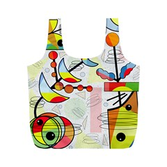 Happy day Full Print Recycle Bags (M)