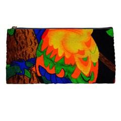 Parakeet Colorful Bird Animal Pencil Cases