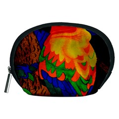 Parakeet Colorful Bird Animal Accessory Pouches (medium)