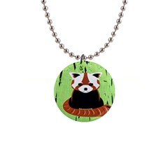 Red Panda Bamboo Firefox Animal Button Necklaces