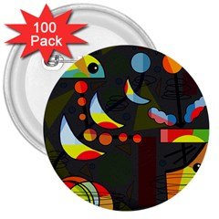 Happy day 2 3  Buttons (100 pack)