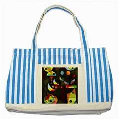 Happy day 2 Striped Blue Tote Bag