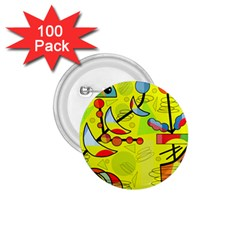 Happy day - yellow 1.75  Buttons (100 pack)