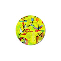 Happy day - yellow Golf Ball Marker (4 pack)