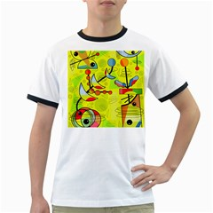 Happy day - yellow Ringer T-Shirts