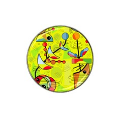 Happy day - yellow Hat Clip Ball Marker