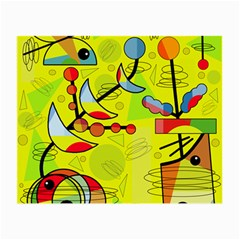 Happy day - yellow Small Glasses Cloth