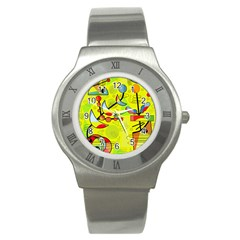 Happy day - yellow Stainless Steel Watch