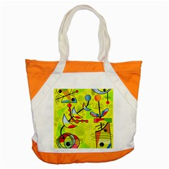 Happy day - yellow Accent Tote Bag