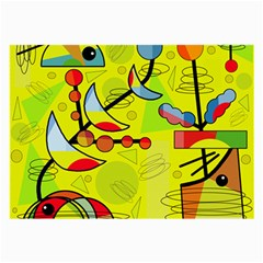 Happy day - yellow Large Glasses Cloth (2-Side)