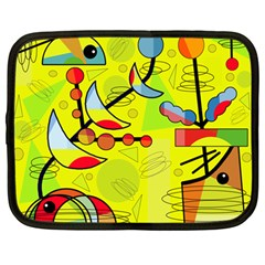 Happy day - yellow Netbook Case (Large)