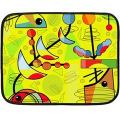 Happy day - yellow Fleece Blanket (Mini)