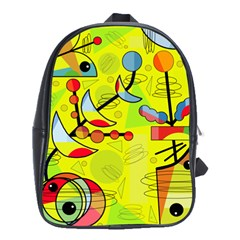 Happy day - yellow School Bags(Large)