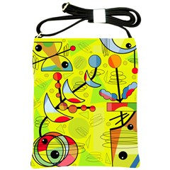 Happy day - yellow Shoulder Sling Bags