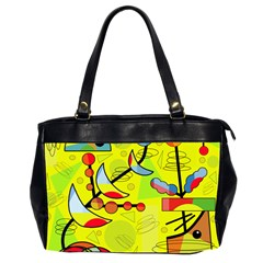 Happy day - yellow Office Handbags (2 Sides)