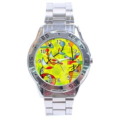 Happy day - yellow Stainless Steel Analogue Watch