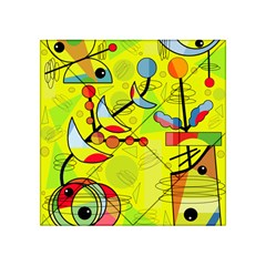 Happy day - yellow Acrylic Tangram Puzzle (4  x 4 )