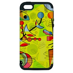 Happy day - yellow Apple iPhone 5 Hardshell Case (PC+Silicone)