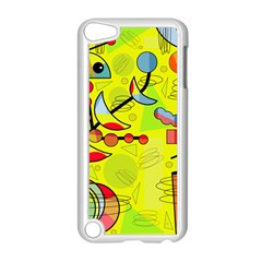 Happy day - yellow Apple iPod Touch 5 Case (White)