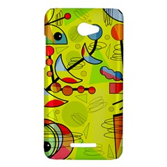 Happy day - yellow HTC Butterfly X920E Hardshell Case