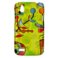 Happy day - yellow HTC Desire V (T328W) Hardshell Case