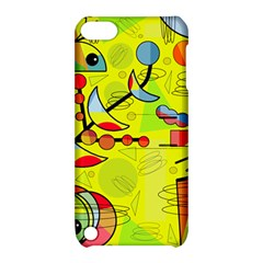 Happy day - yellow Apple iPod Touch 5 Hardshell Case with Stand