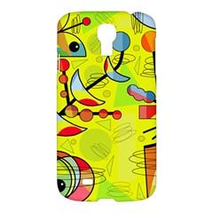 Happy day - yellow Samsung Galaxy S4 I9500/I9505 Hardshell Case
