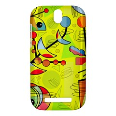 Happy day - yellow HTC One SV Hardshell Case