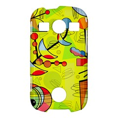 Happy day - yellow Samsung Galaxy S7710 Xcover 2 Hardshell Case