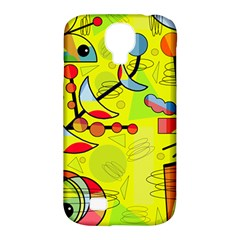 Happy day - yellow Samsung Galaxy S4 Classic Hardshell Case (PC+Silicone)