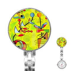 Happy day - yellow Stainless Steel Nurses Watch