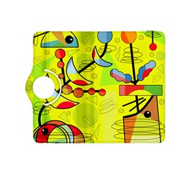 Happy day - yellow Kindle Fire HDX 8.9  Flip 360 Case