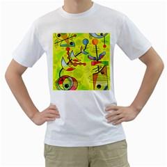 Happy day - yellow Men s T-Shirt (White)