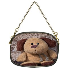 Stuffed Animal Fabric Dog Brown Chain Purses (one Side)