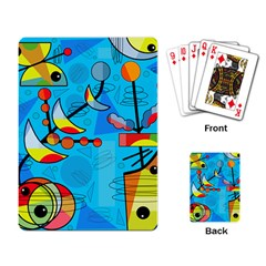 Happy day - blue Playing Card