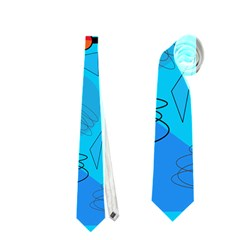Happy day - blue Neckties (One Side)