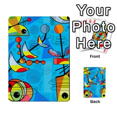Happy day - blue Multi-purpose Cards (Rectangle)