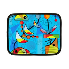 Happy day - blue Netbook Case (Small)