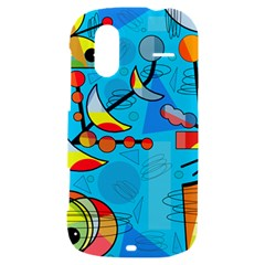 Happy day - blue HTC Amaze 4G Hardshell Case