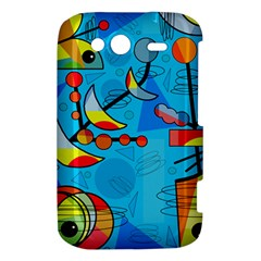 Happy day - blue HTC Wildfire S A510e Hardshell Case