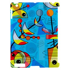 Happy day - blue Apple iPad 2 Hardshell Case (Compatible with Smart Cover)