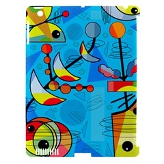 Happy day - blue Apple iPad 3/4 Hardshell Case (Compatible with Smart Cover)